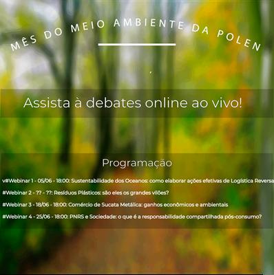 Programação Mês do Meio Ambiente Polen
